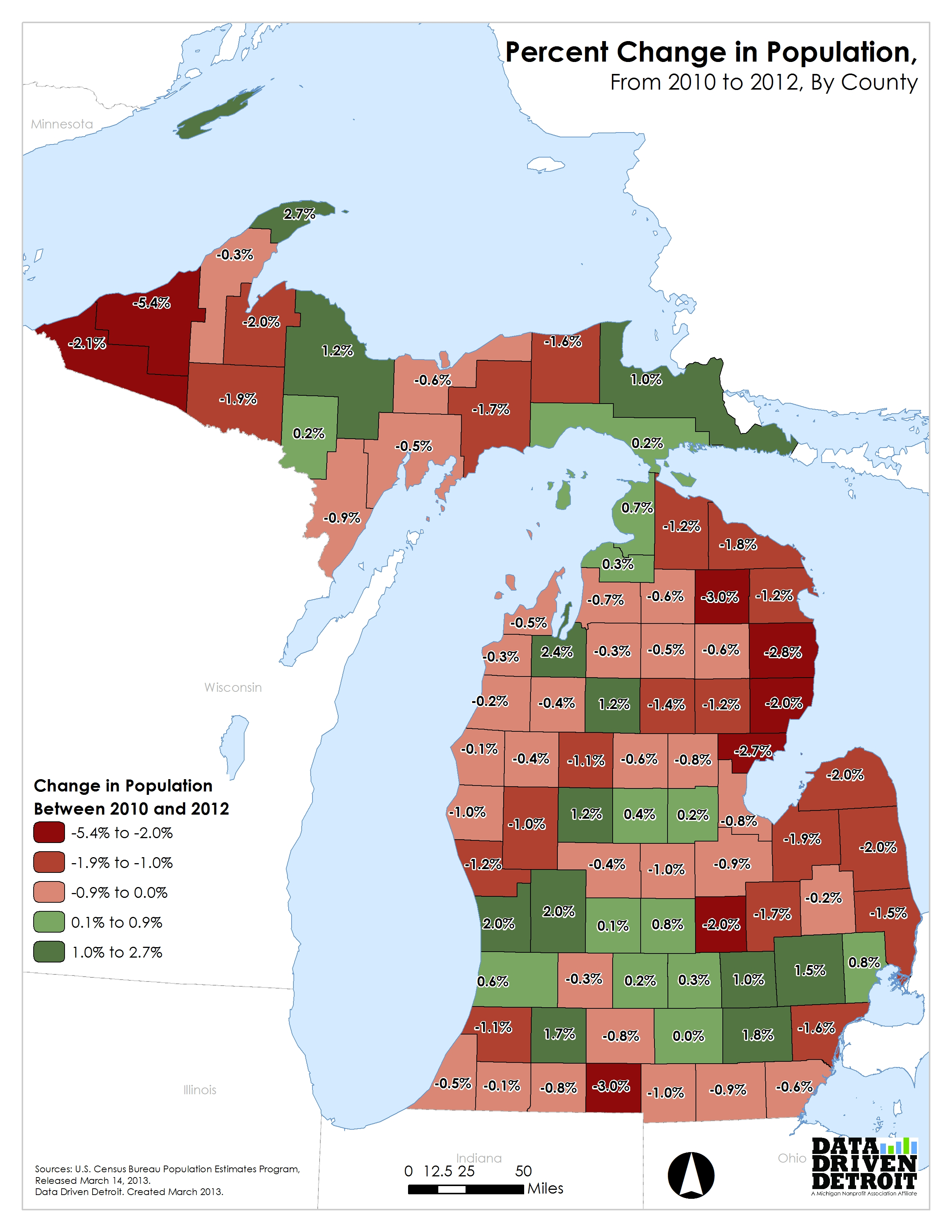 Data Driven Detroit  Michigans First Year Of Population Growth - Us counties by race