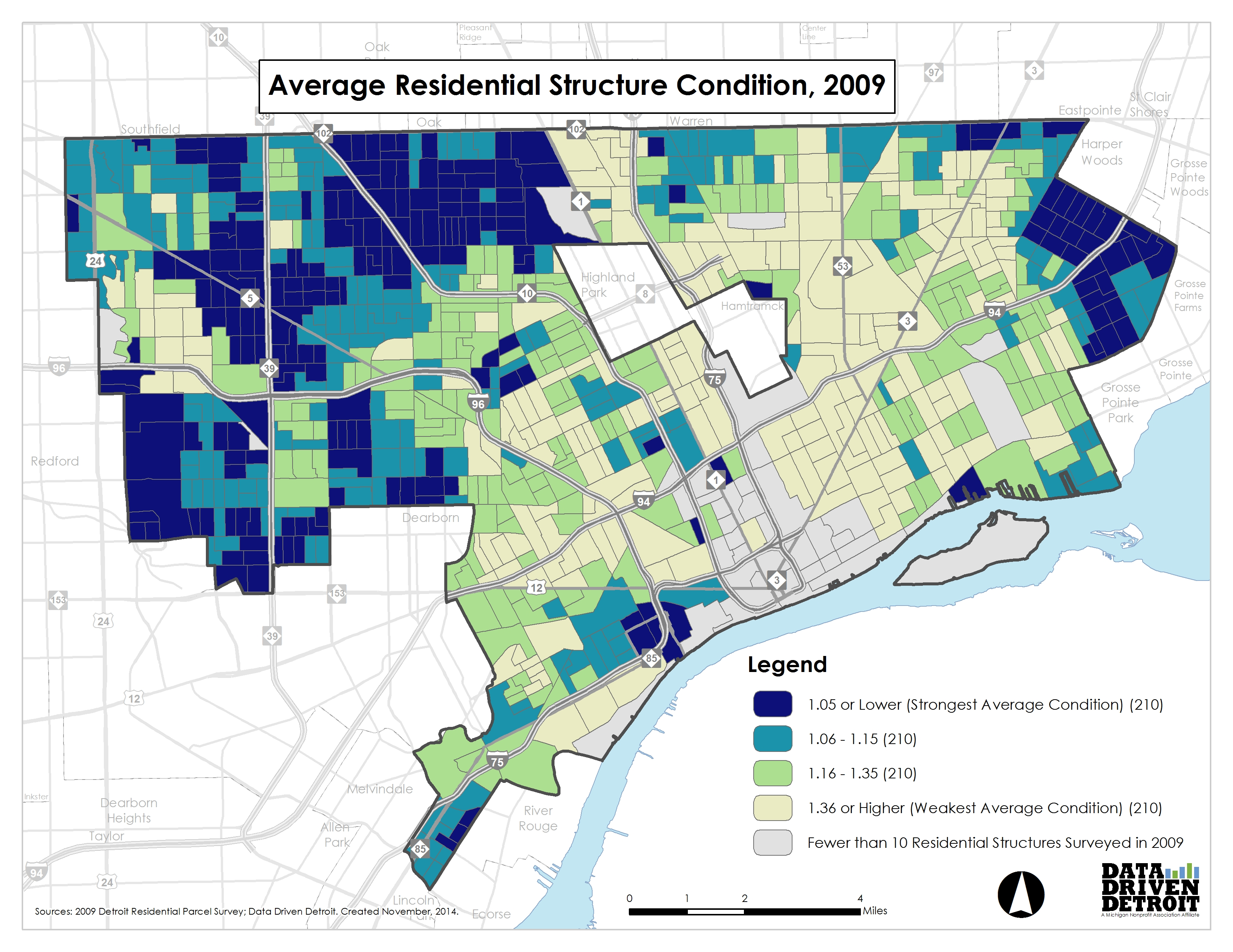 Data Driven Detroit  City of Change  Evolution in the Condition