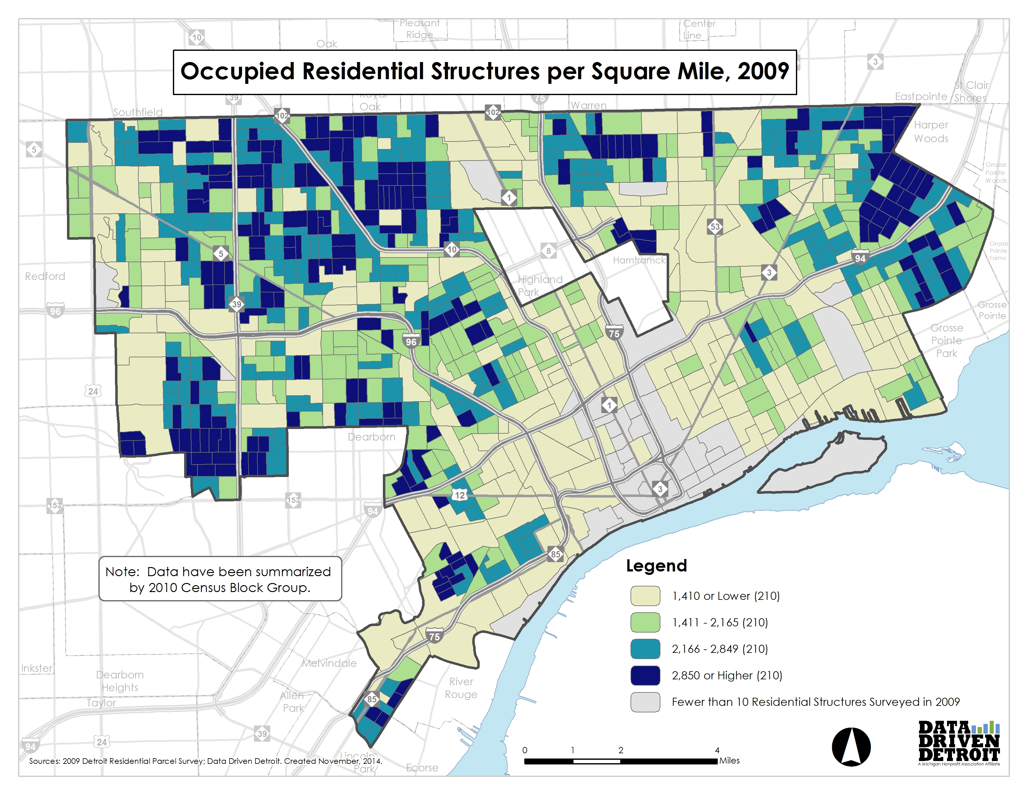 Data Driven Detroit  City Of Change  Occupancy Density