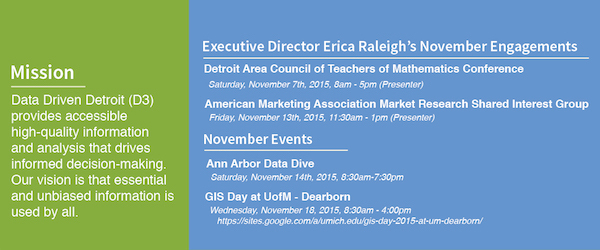 Erica's & D3's upcoming engagements