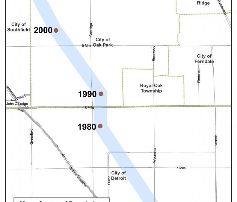 Population Centers Through the Decades
