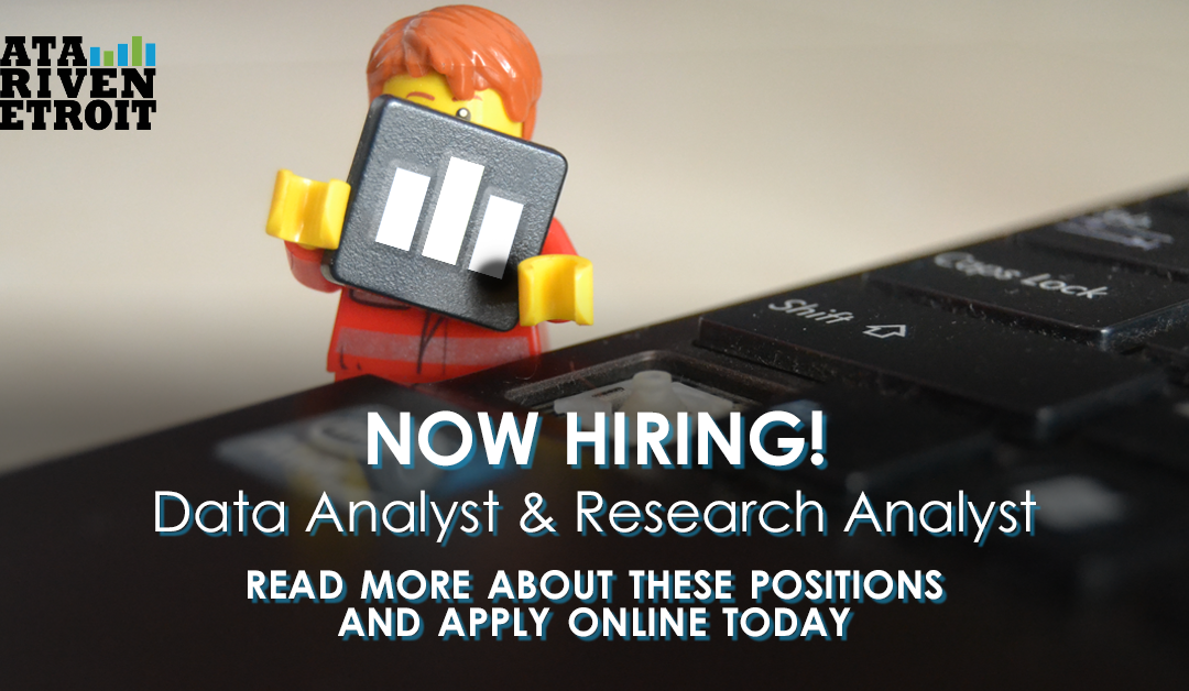 Now hiring! Data Analyst & Research Analyst